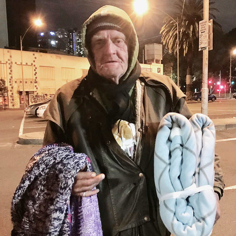 Homeless on the streets of Melbourne